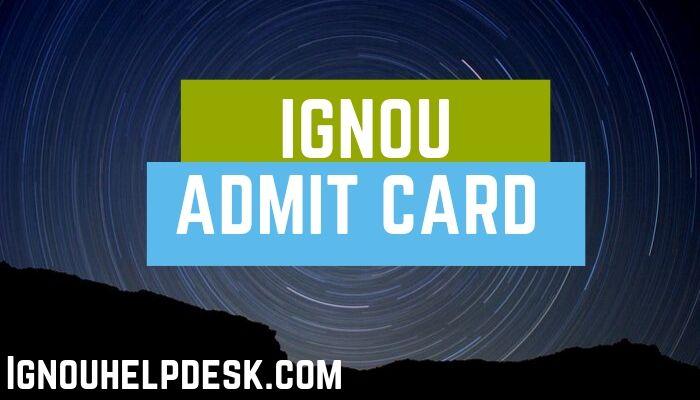 ignou hall ticket