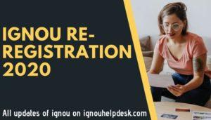 ignou re-registration 2021