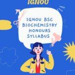 ignou bsc biochemistry syllabus