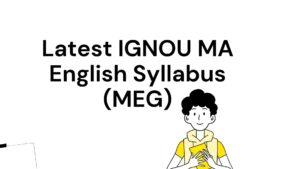 ignou ma english syllabus