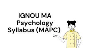 ignou ma psychology syllabus